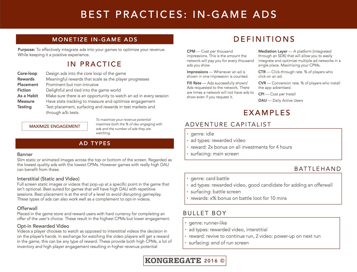 Best Practices: In-Game Ads slide