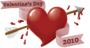 V day heart 130x70 transparent