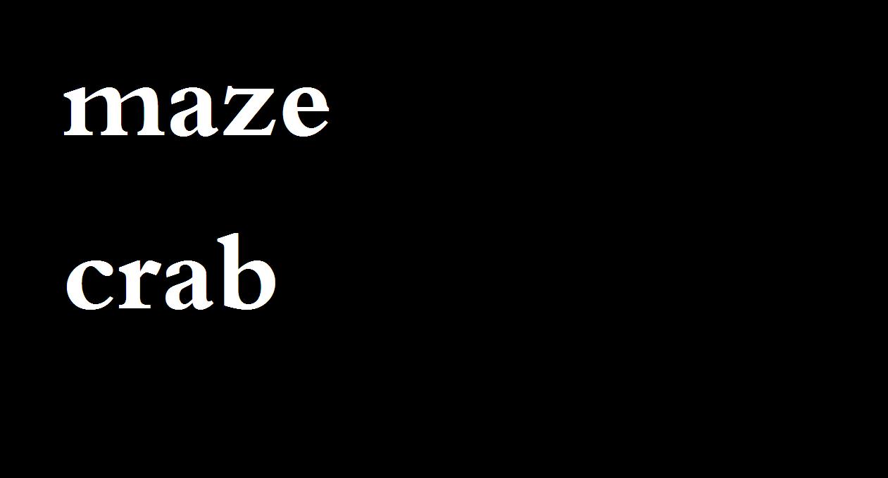Play Maze Crab