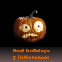 Play Best holidays 5 Differences