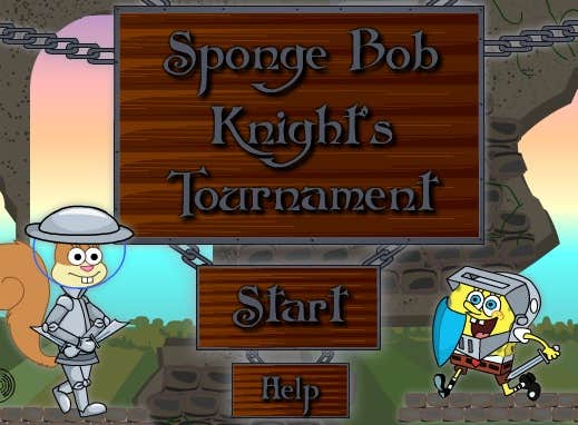 Play Sponge Bob: Knight's tournament