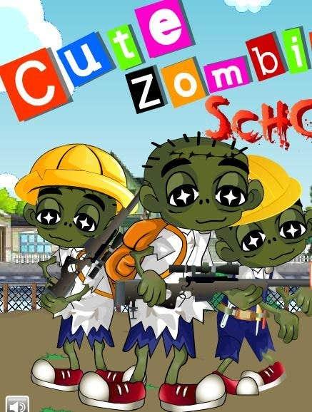 Play Cute Zombie School Defense