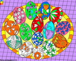 Play Coloring Easter Eggs