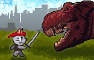 Play Ninja Cat and Zombie Dinosaurs