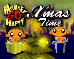 Play Monkey GO Happy - Xmas Time!
