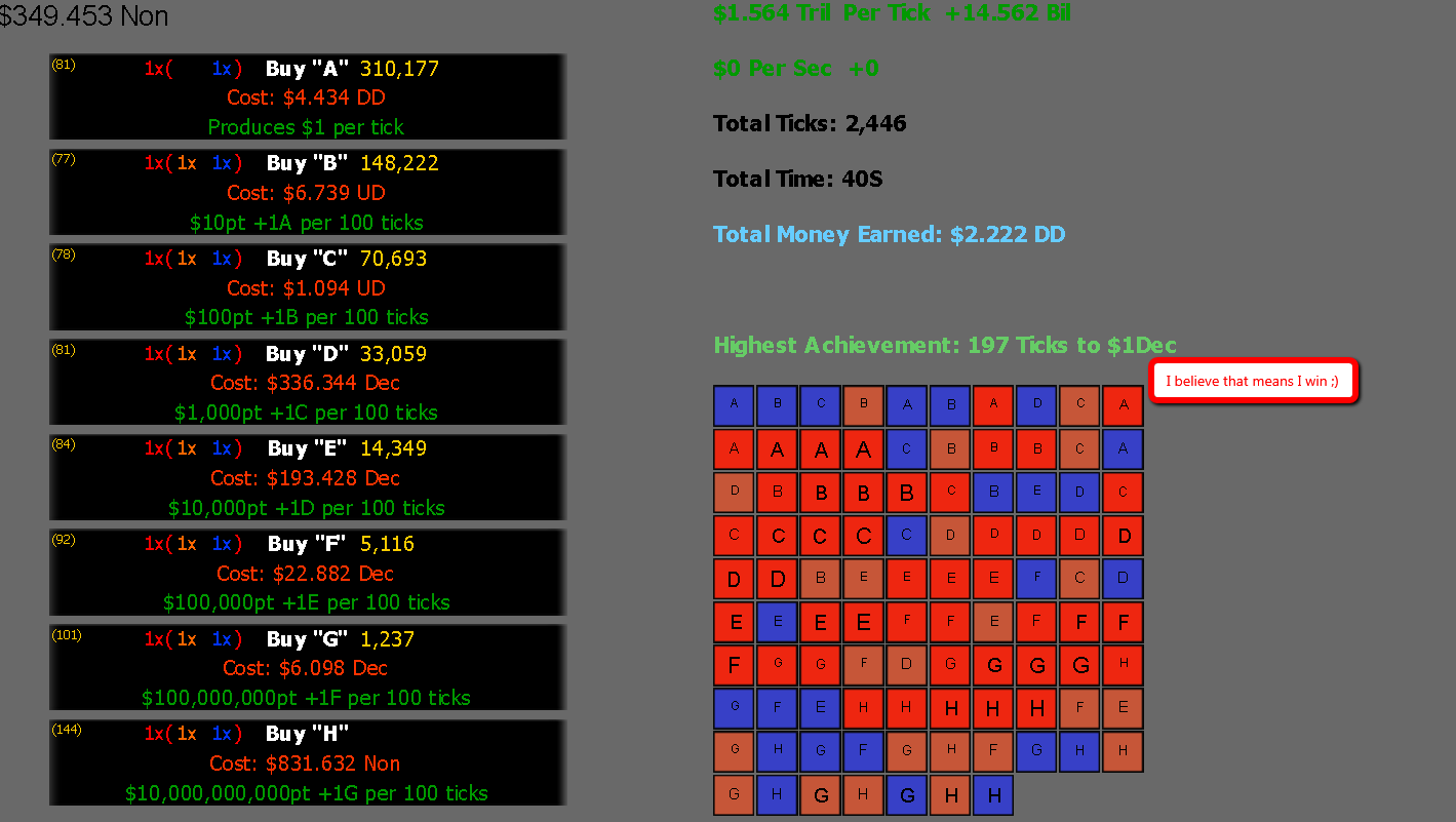 Play Multiplicative Idle