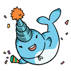 Narwhal stickers party