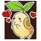Bean stickers kissy