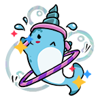 Narwhal stickers exercise shiny