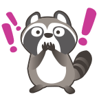 Raccoon surprise