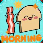 Toast morning shiny