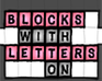Play Blocks With Letters On