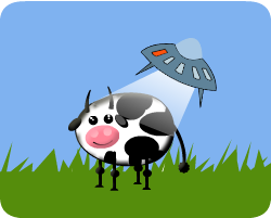 Play UFO like cows