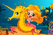Play Mermaid and Seahorse