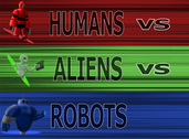 Play Humans vs Aliens vs Robots: War