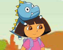 Play Dora Save Baby Dinosaur