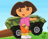 Play Dora Driving Armored Car