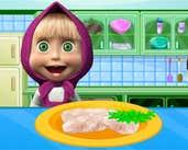 Play Masha Cooking School