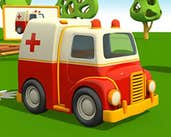 Play Cartoon Ambulance Truck