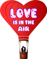 Play LOVE IN THE AIR valentine day