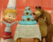 Play Masha and the Bear make Birthday Cake